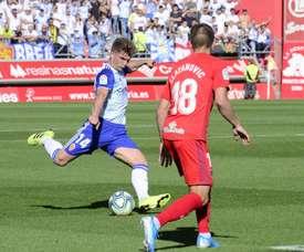 El Zaragoza venció por la mínima en Los Pajaritos. Twitter/RealZaragoza