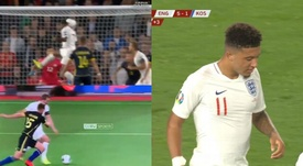 England tore apart a valiant Kosovo in the first half. Captura/beINSports