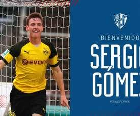 Sergio Gomez nouveau joueur de Huesca. witter/SDHuesca