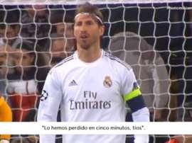 Ramos foi visto extremamente frustrado contra o City.  Captura/Vamos
