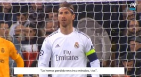 Ramos wasn't happy. Screenshot/Vamos
