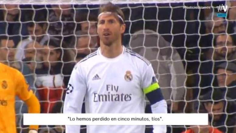 Ramos wasn't happy. Screenshot/Vamos