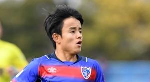 Takefusa Kubo marcó su primer gol profesional. FCTokyo