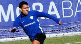 Tarik Mebarak, sobrino de Shakira, reforzó al filial del Andorra. Varios/TM