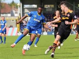 Toyosi Olusanya estará a prueba en el Chelsea. AFCWimbledon