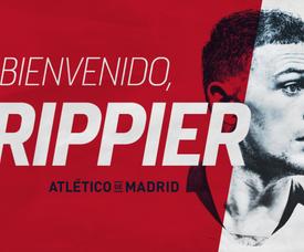 Trippier è un nuovo giocatore dell'Atletico. Twitter/Atleti