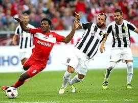 Zé Luis anotó dos goles para el Spartak de Moscú. SpartakMoscow
