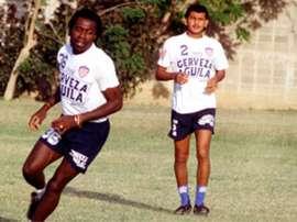 Pierre Aubameyang lors d'un entraînement.