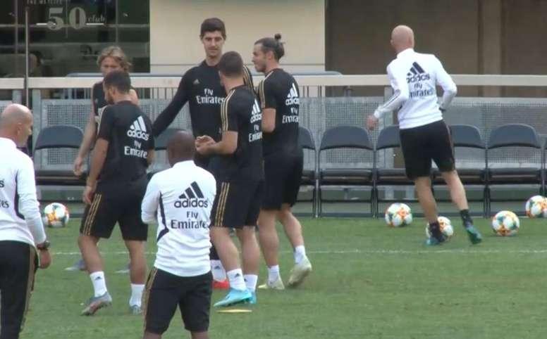 Bale, ajeno a los rumores. Captura/RealMadrid