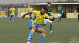 Un gol en propia del Racing de Ferrol dio la victoria al filial de Las Palmas. Twitter/UDLP_Cantera