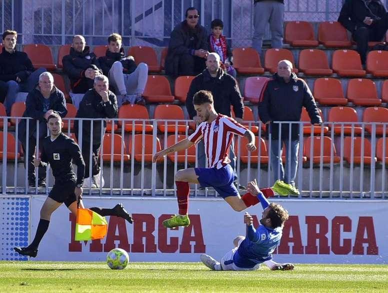 El filial 'colchonero' rascó un empate que vale oro. Twitter/AtletiAcademia