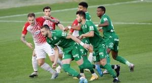 El Omonia Nicosia lleva cuatro jornadas sin ganar. Twitter/OMONOIAfootball