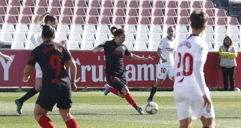Al Atlético de Madrid volvió a faltarle gol. Twitter/AtletiFemenino