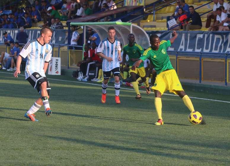 Imagen de un partido entre Argentina y Mauritania, selecciones que están disputando el COTIF. COTIFAlcudia