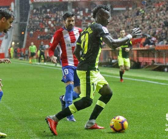 El Sporting venció por la mínima al Mallorca. LaLiga