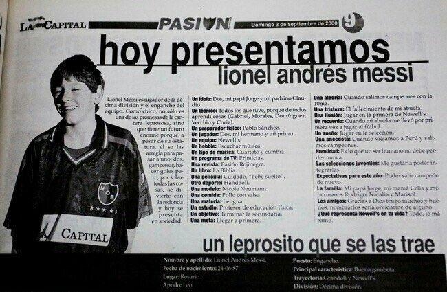 La desconocida y peculiar entrevista a Messi en el año 2000. DiarioLaCapital