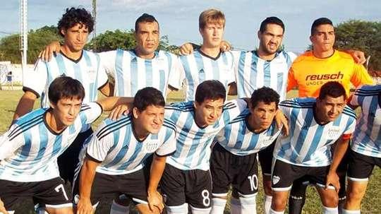 Imagen de una formación de Argentinos del Norte de Clorinda. La Voz de Clorinda