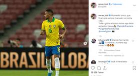 Renan Lodi vivió un momento único con Brasil. Instagram/Renan_Lodi