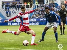 El Oviedo acabó empatando con el Granada. LaLiga