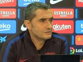 Valverde feels lucky to coach Leo Messi Captura/EFE
