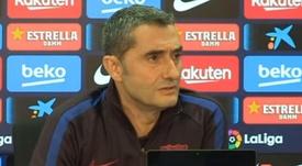 Valverde disse ser sortudo por treinar Lionel Messi. Captura/EFE