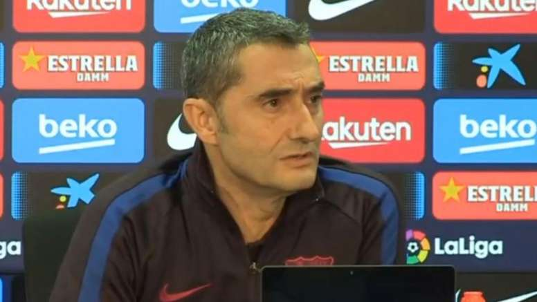 Valverde feels lucky to coach Leo Messi Captura/EFE