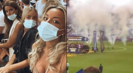Las 'campeonas' del PSG observaron el partido desde la grada. Instagram