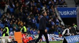 Vicente Moreno pidió competitividad en los 90 minutos. RCDMallorca