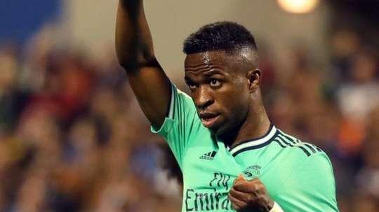 Vinicius, a grande esperança do Madrid. EFE/Javier Cebollada