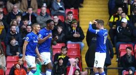 Yerry Mina habló de su antiguo club. Twitter/Everton