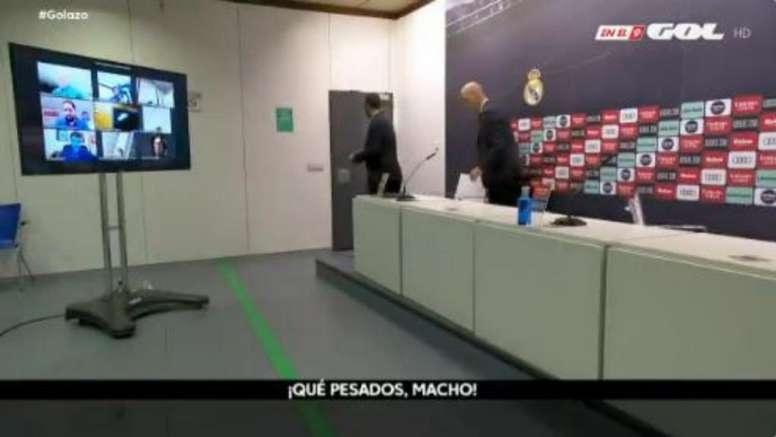 Zidane estalló contra los periodistas en rueda de prensa. Captura/ElGolazoDeGol