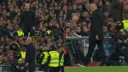 Zidane não escondeu sua raiva. Captura/GOAL