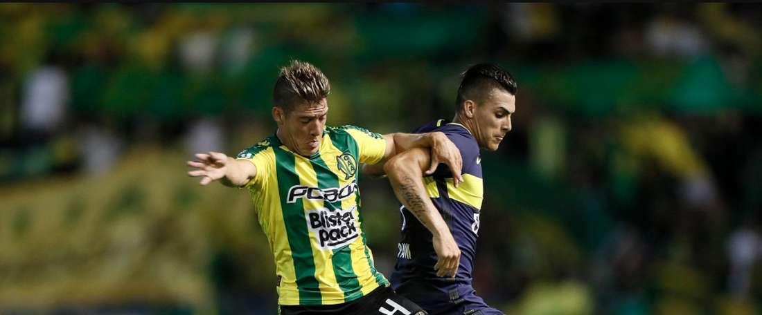 Junior Benítez anotó el único tanto del partido. Twitter/La12tuittera