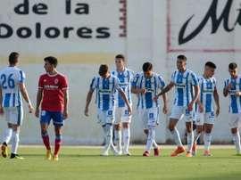 El Leganés goleó al Zaragoza. Twitter/CDLeganes