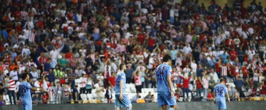 Imagen del Antalyaspor-Trabzonspor. Twitter