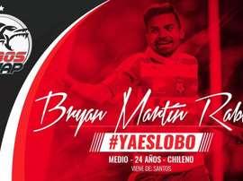 El delantero firma su nuevo contrato con el conjunto mexicano. LobosBUAP
