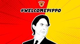 Filippo Inzaghi, nuevo técnico del Benevento. bncalcio