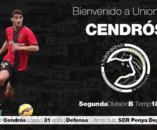 Cendrós llega procedente del Peña Deportiva. Twitter/UnionistasCF