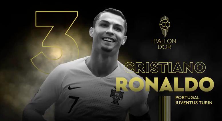Cristiano Ronaldo conquista sua sexta Bola de Ouro. Twitter/francefootball