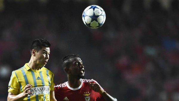 Imagen del Astana-Benfica. Twitter
