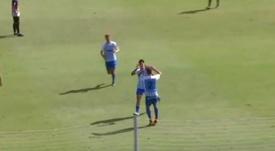 El Atlético Malagueño empató ante el Loja. Captura/101TV