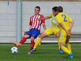 Imagen de la ida del Atlético Sub 19-Astana Sub 19 en el Cerro del Espino. Twitter