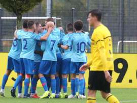 Del 1-4 del Atlético al 3-4 del Borussia Dortmund. Twitter/AtletiAcademia