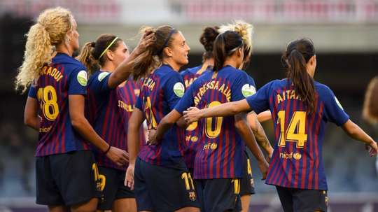 Glasgow City face a tough UWCL tie with FC Barcelona Femeni this week. TWITTER/GLASGOWCITYFC