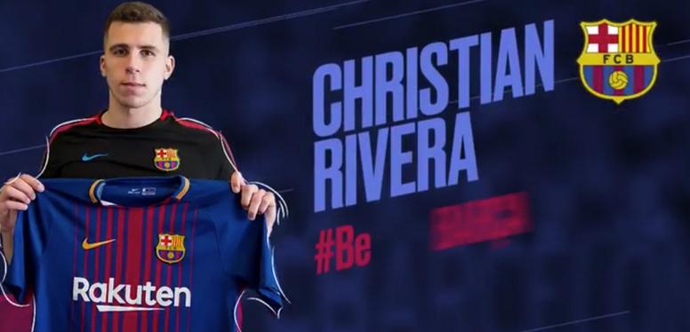 Cristian Rivera cambiará de camiseta azulgrana. FCBarcelona