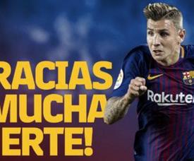 Digne ganhou quatro títulos com a camisa do Baça. Twitter/Barcelona