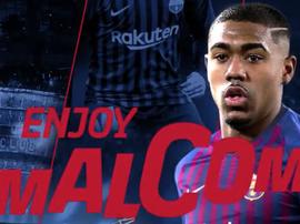 Malcom, o novo jogador do Barça. Twitter/FCB