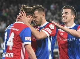 El Basilea se dio un festín a costa del campeón. FCBasel