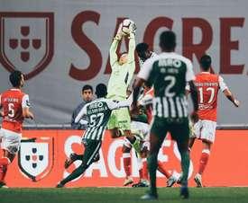 El Braga no pasó del empate. Twitter/SCBragaOficial
