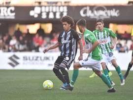 El Cartagena venció por 2-0 al Sanluqueño. Twitter/FCCartagena_efs